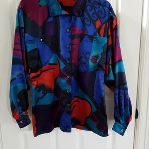 Women's/Medium Escada Colorful Blouse